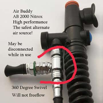 AIR BUDDY alternate air source on bcd